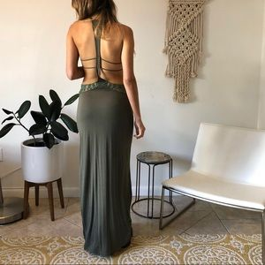 Urban Outfitters Army Green Maxi Dress